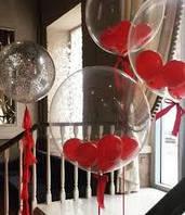 Шар сфера баблс 40см с шариками