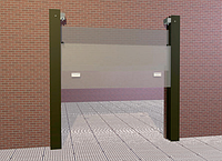 Противопожарные вертикально-откатные двух-створчатые ворота Alutech FireMarc-O