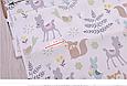 Сатин (бавовняна тканина) м'ятні звірі на лісовій галявині, фото 2