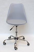 Кресло на колесах Milan  office (Милан) серый 35, сиденье экокожа с подушкой