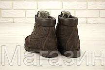 Мужские зимние ботинки Timberland Premium Winter Brown зимние Тимберленд С НАТУРАЛЬНЫМ МЕХОМ коричневые, фото 3