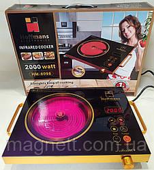 Электрическая инфракрасная плита Hoffmans HM-8098 2000 Вт Черная/золотая