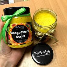 """Органічний скраб для обличчя і тіла з кокосовою олією """"Манго-персик"""" Top Beauty"""