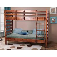 Кровать деревянная двухъярусная подростковая Троя
