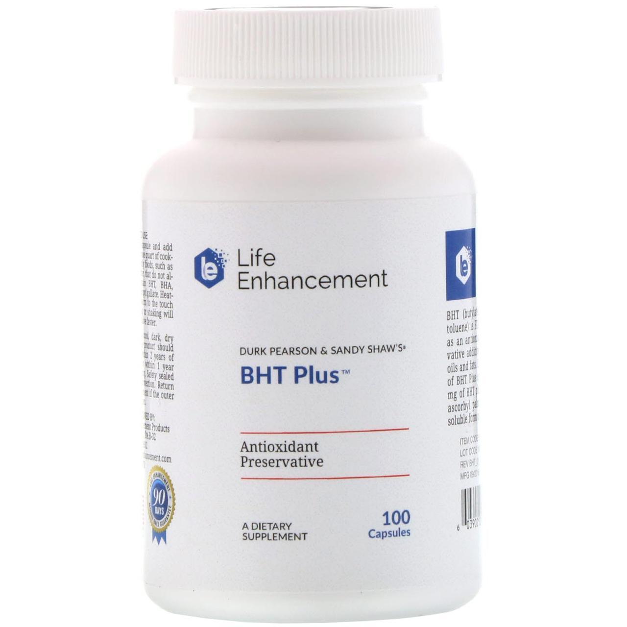 Life Enhancement, BHT+ от Дюка Пирсона и Сэнди Шоу, 100 капсул