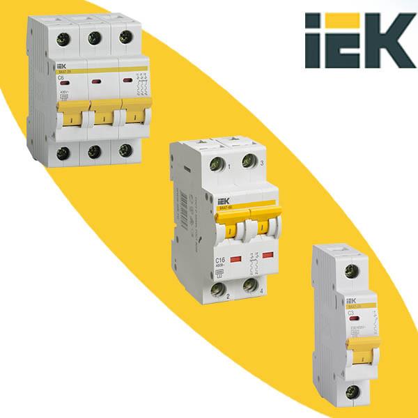 Модульные автоматические выключатели IEK