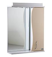 Зеркало АкваСан с подсветкой 65 см Бежевое, фото 1