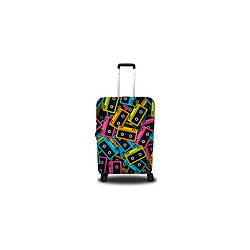 Чехол полиэстер на чемодан L с рисунком 0401 Высота 65-80см Coverbag CvPL0401