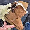 Женские угги UGG Bailey Bow Mini Brown, фото 5