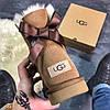 Женские угги UGG Bailey Bow Mini Brown, фото 2