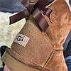 Женские угги UGG Bailey Bow Mini Brown, фото 4