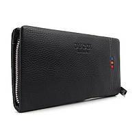 Мужской клатч Gucci черный кожаный с хлястиком gu-2617-7 bla, фото 1