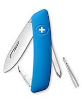 Нож Swiza D02 голубой, 6 функций, отвертка