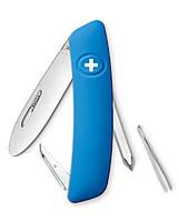Нож Swiza J02 голубой, 6 функций, отвертка