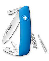 Нож Swiza D03 голубой, 11 функций, штопор