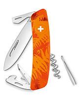 Нож Swiza C03 оранжевый, 11 функций, штопор