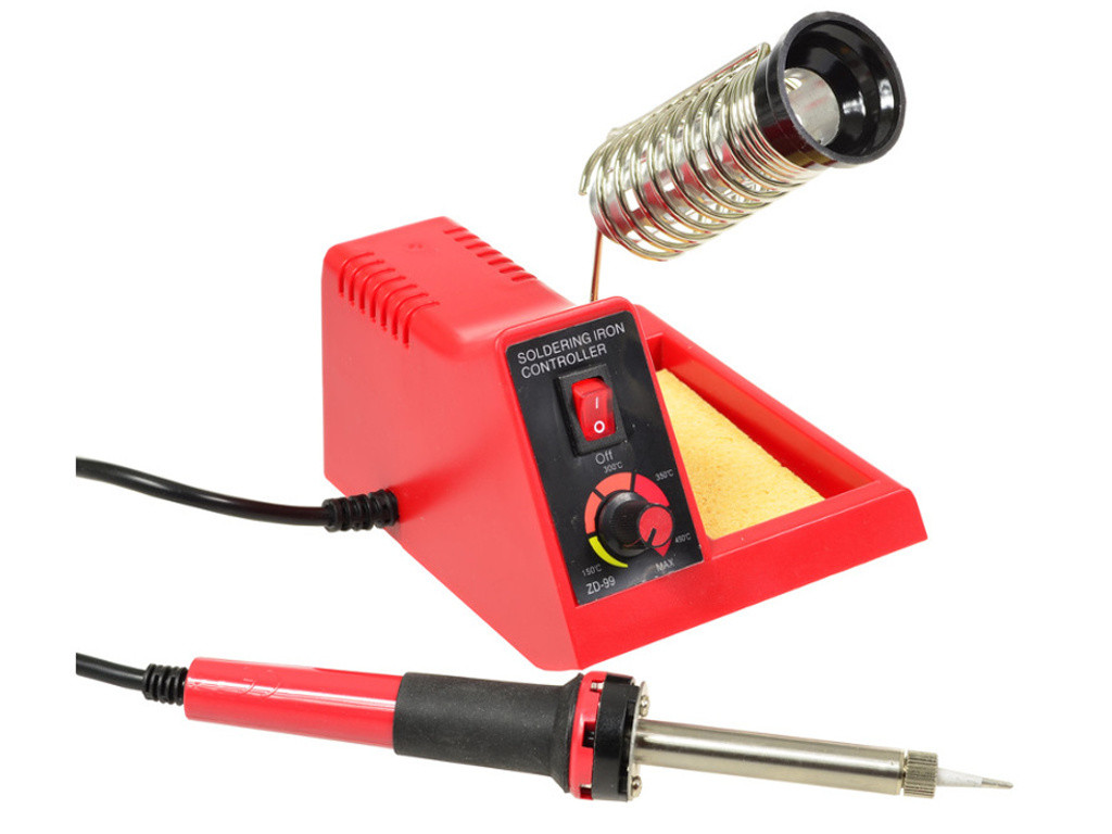 Паяльная станция ZD-99 58W с регулятором мощности и подставкой под паяльник