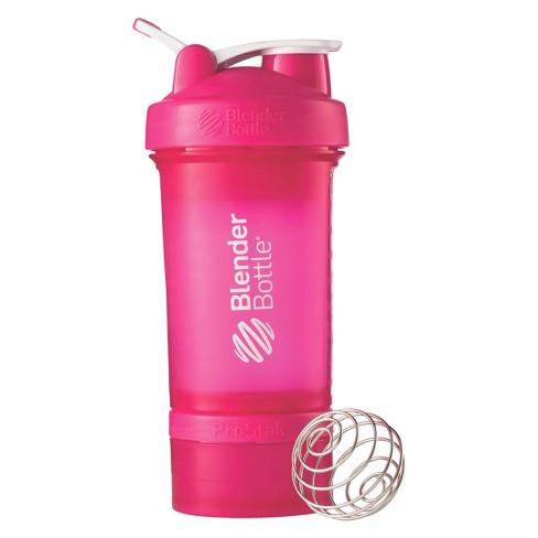 Шейкер спортивный BlenderBottle ProStak с шариком 650 мл Розовый