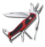 """Ніж Victorinox Delemont """"RangerGrip 174 Handyman"""" червоно-чорний"""