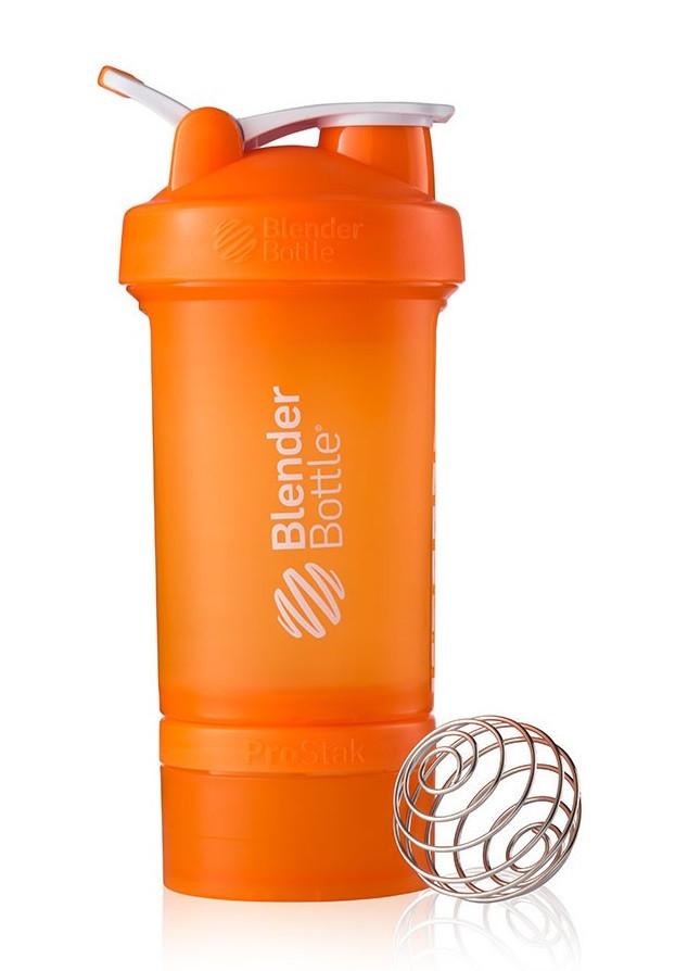 Шейкер спортивный BlenderBottle ProStak с шариком 650 мл оранжевый