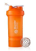 Шейкер спортивный BlenderBottle ProStak с шариком 650 мл оранжевый, фото 1