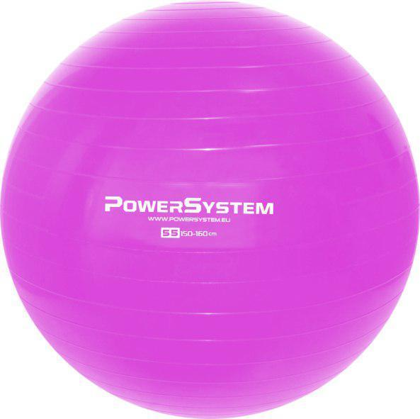 Мяч для фитнеса и гимнастики POWER SYSTEM PS-4011 55cm Pink