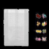 Бумажный пакет без ручек белый 160х100х50мм (ВхШхГ) 40г/м² 100шт (549)