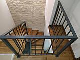 Відкрита сходи в сучасному стилі на центральному монокосоуе. П-подібні сходи в квартиру, будинок, котедж., фото 4