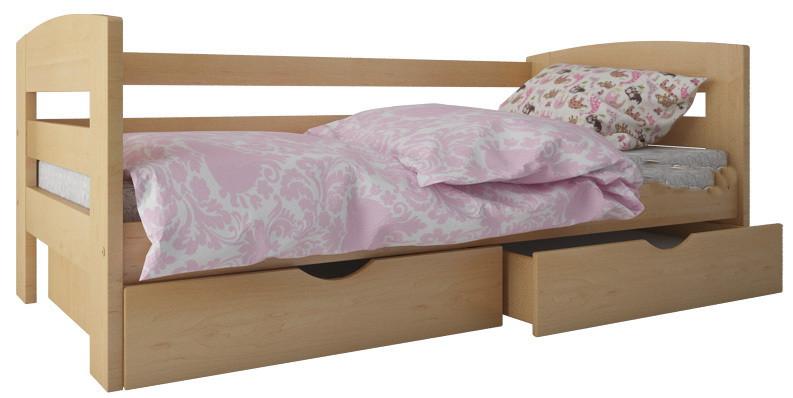 """Кровать """"Ирис"""" с ящиками  (массив бука)"""