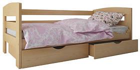 """Ліжко """"Ірис"""" з ящиками (масив бука)"""