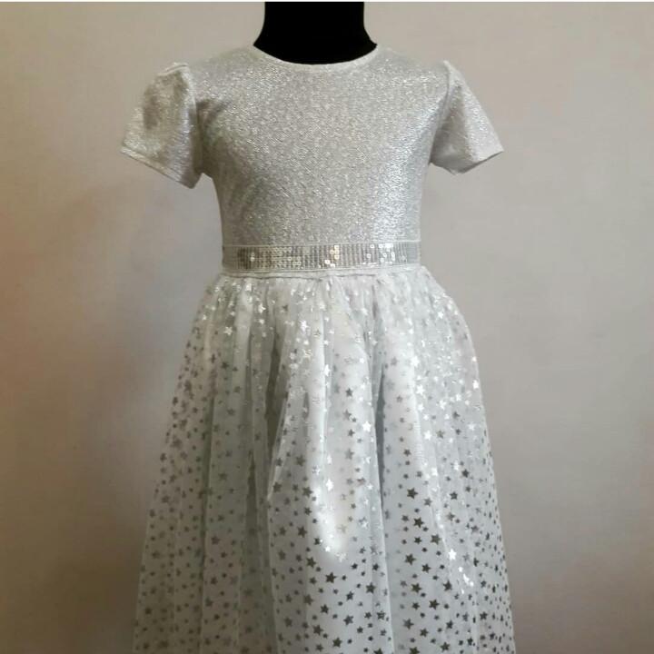"""Сукня """"Сніжинка"""" для дівчинки на ранок"""