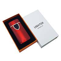 Спиральная сенсорная электрическая USB зажигалка Lighter Красная (ART 018-2)