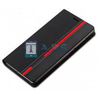 Чехол-книжка PU кожа для Huawei Honor 4C Red Line черный