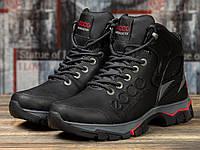 Мужские зимние ботинки на меху в стиле Ecco Natural Motion, натуральная кожа, черные *** 40 (26,5 см)