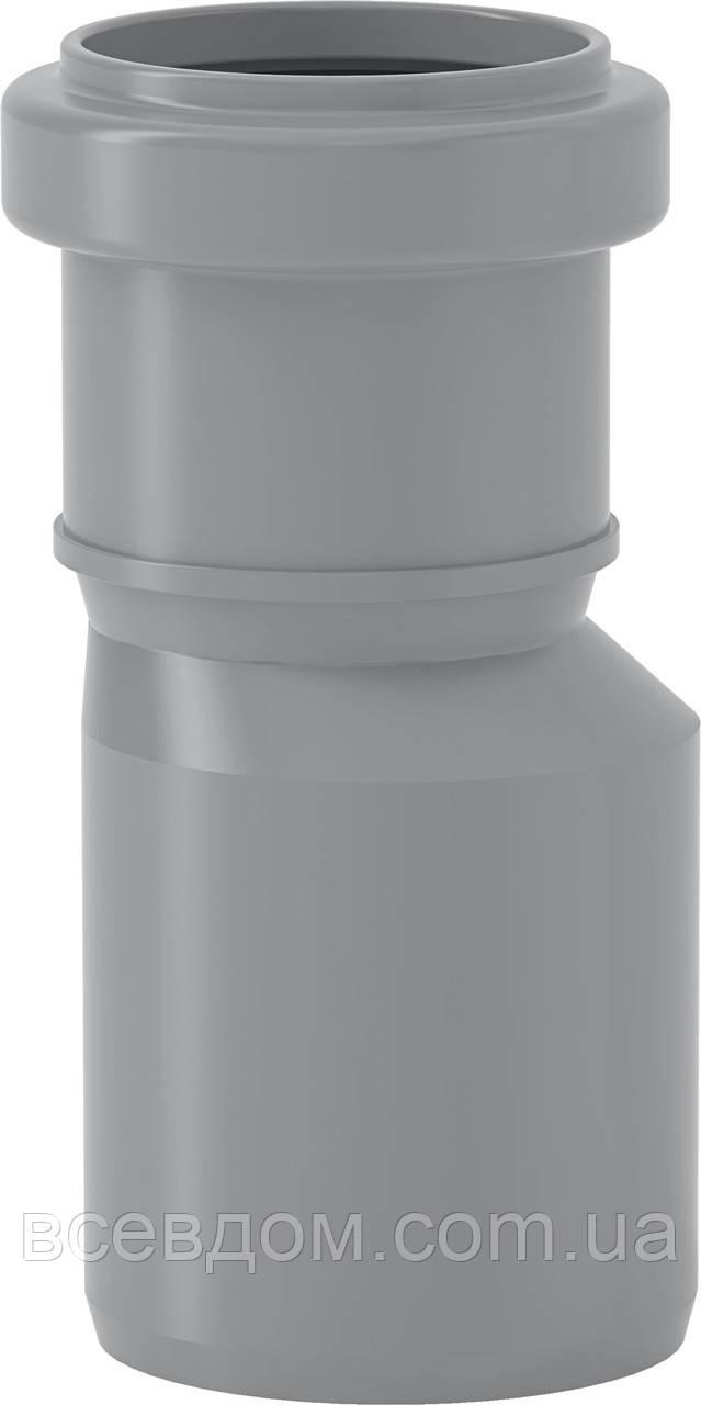 HTR переходник редукция эксцентрическая Valsir внутренней канализации 110/50