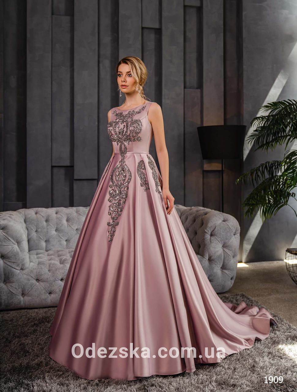 Пышное выпускное платье в пол