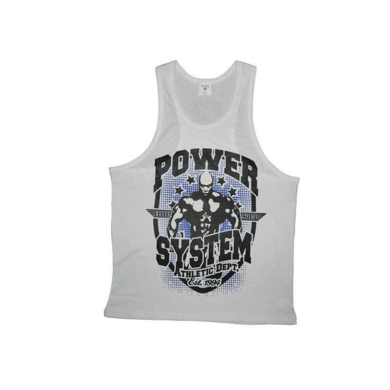 Майка для фитнеса и бодибилдинга Power System PS-8001 Elite Squad L White