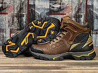 Мужские зимние ботинки на меху в стиле Ecco Natural Motion, натуральная кожа, коричневые *** 40 (26,5 см)