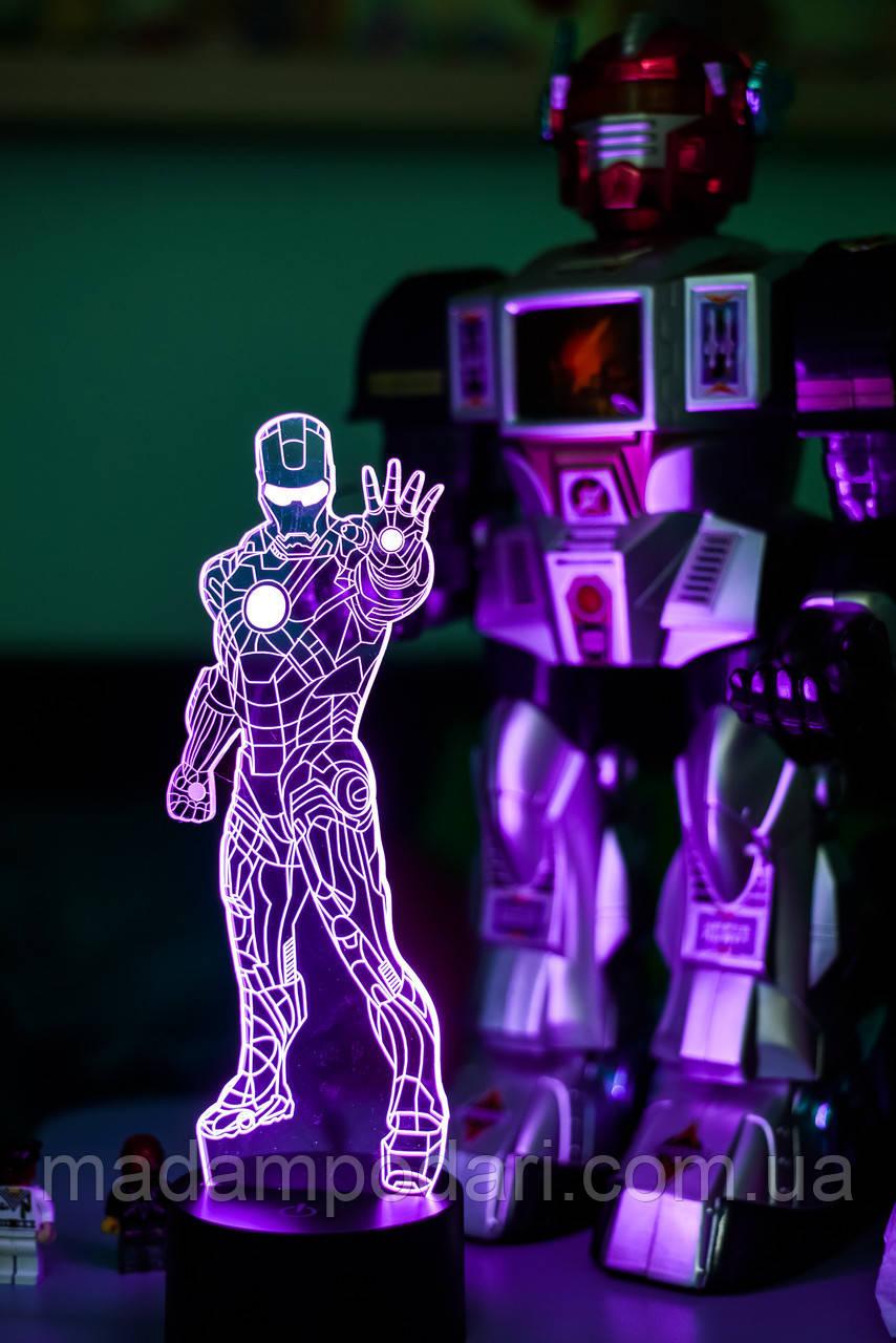 """3D Ночник  """"Железный человек 1"""""""