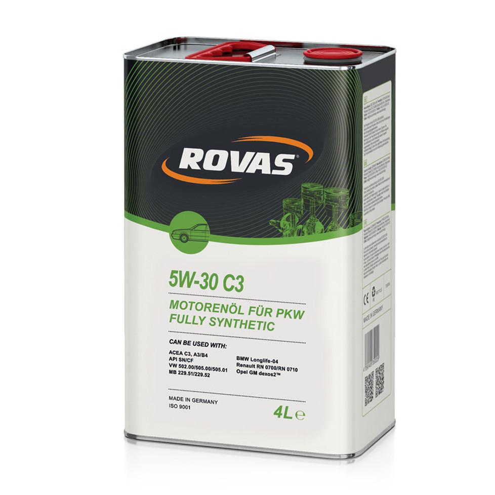 Моторное масло Rovas 5W-30 С3 синтетика 4л (110051)