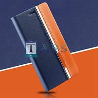 Чехол-книжка PU кожа для Lenovo A916 Red Line синий