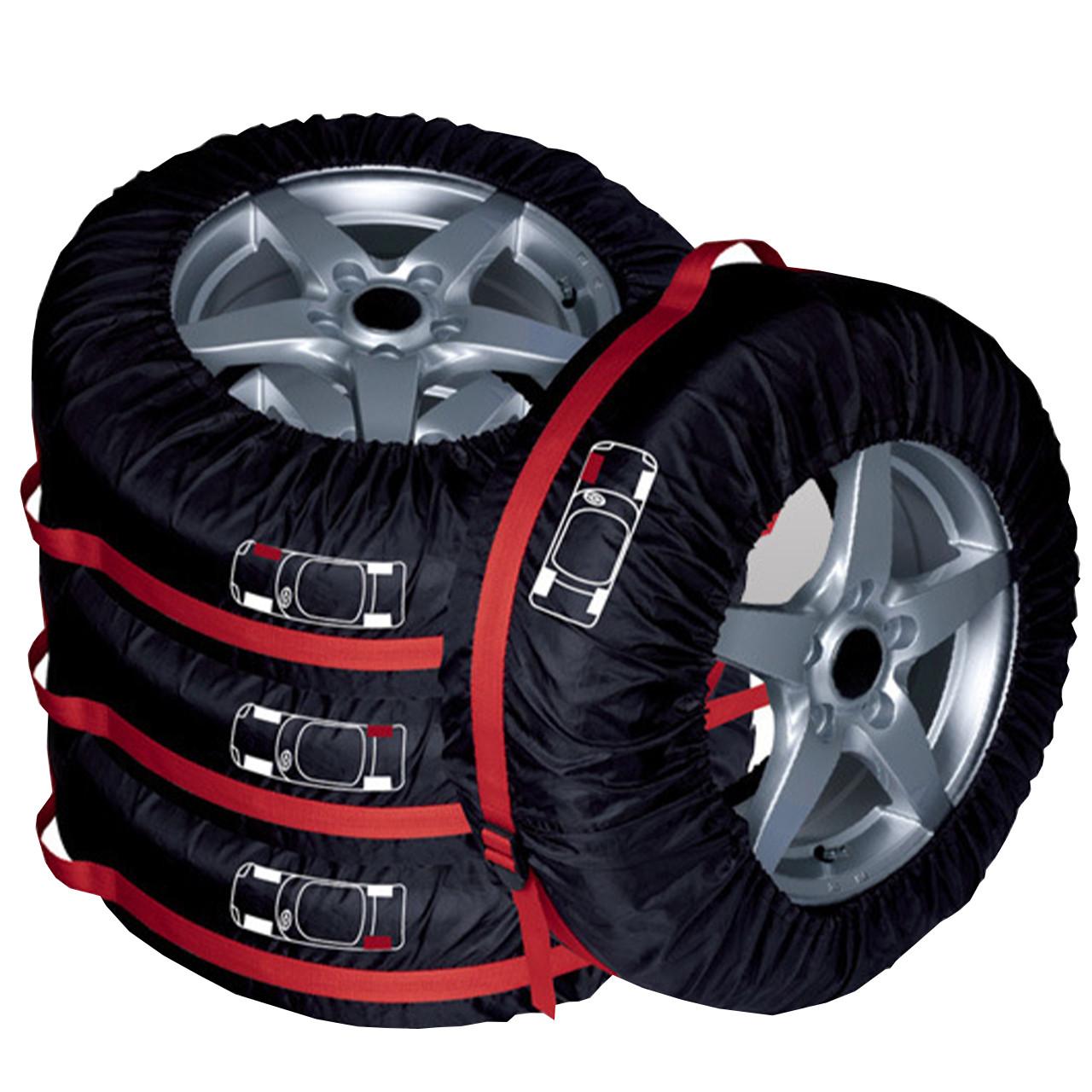 Комплект чехлов на колесо автомобиля Auto Care FJCZ-001 4 шт Черный  (2940-8809)