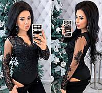 Женский модный боди дайвинг + кружево и сетка с 42 по 48 рр