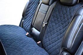 Накидки на задние сиденья Motowey из искусственной замши Черные (2623)