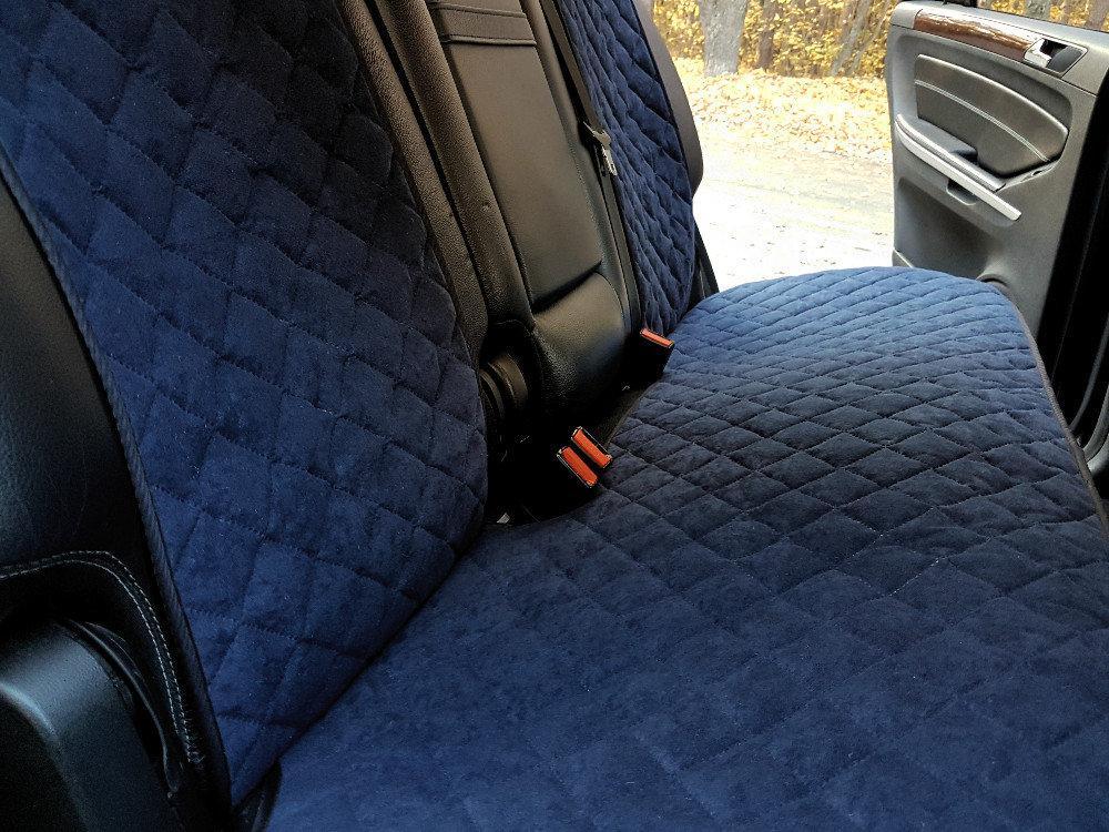 Накидки на задние сиденья Motowey из искусственной замши Темно-синий (2623s)