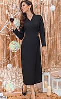 Классическое платье халат женское миди 3 цвета (42-48)