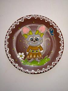 """Блюдце керамическое под чашку """"Мышка малышка"""""""
