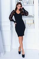 Платье с шифоновыми рукавами 29570, фото 1