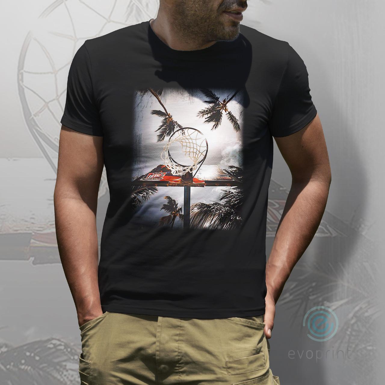 Качественная печать на черных футболках