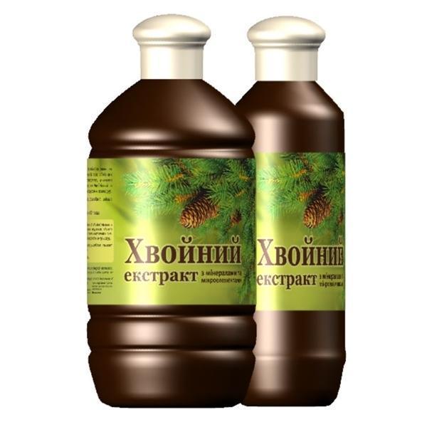 """БАД """"Хвойный экстракта для ванн""""-Успокаивает нервы, улучшает сон и настроение (1000мл.,Украина)"""